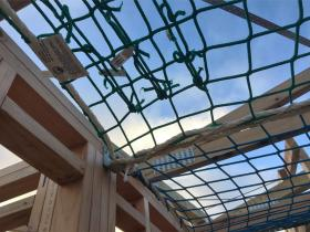 Safety nets installed on site