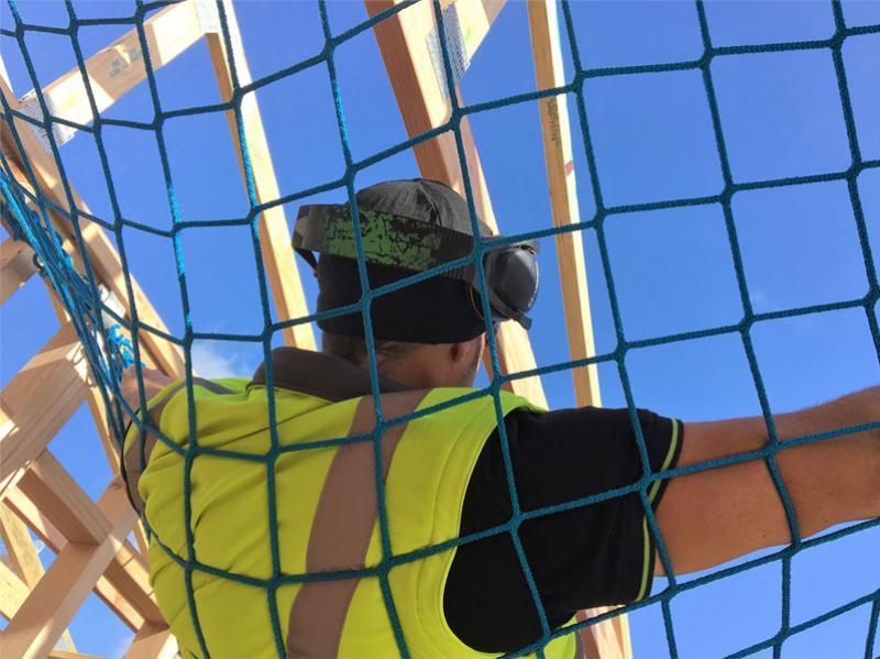 Safety nets catch falls